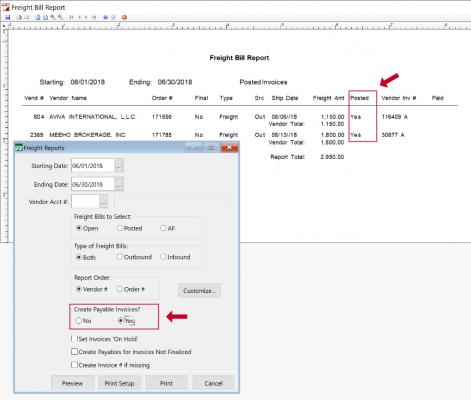 Automatically create payable invoices